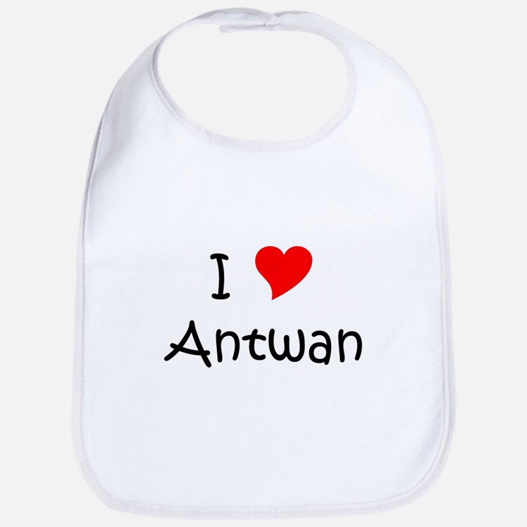 Cute I heart antwan Bib