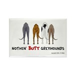 Nothin' Butt Greyhounds Rectangle Magnet (10 pack)