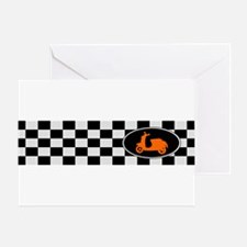 Checkerboard Scoot Greeting Card