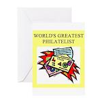 philatelist gifts t-shirts Greeting Card