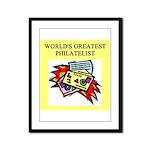 philatelist gifts t-shirts Framed Panel Print