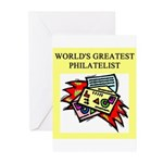 philatelist gifts t-shirts Greeting Cards (Pk of 1