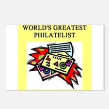 philatelist gifts t-shirts Postcards (Package of 8