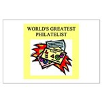 philatelist gifts t-shirts Large Poster