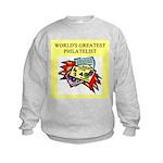 philatelist gifts t-shirts Kids Sweatshirt