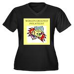 philatelist gifts t-shirts Women's Plus Size V-Nec