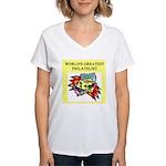 philatelist gifts t-shirts Women's V-Neck T-Shirt