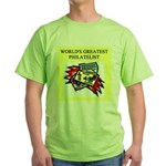 philatelist gifts t-shirts Green T-Shirt