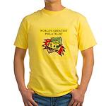 philatelist gifts t-shirts Yellow T-Shirt