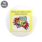 """philatelist gifts t-shirts 3.5"""" Button (10 pa"""