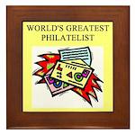 philatelist gifts t-shirts Framed Tile