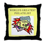 philatelist gifts t-shirts Throw Pillow