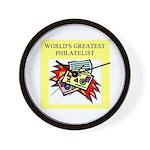 philatelist gifts t-shirts Wall Clock