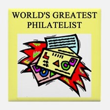 philatelist gifts t-shirts Tile Coaster