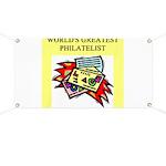 philatelist gifts t-shirts Banner