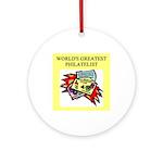 philatelist gifts t-shirts Ornament (Round)