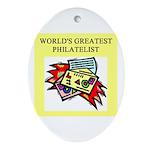 philatelist gifts t-shirts Oval Ornament
