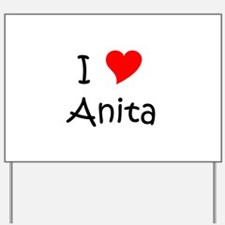 Cute Anita Yard Sign