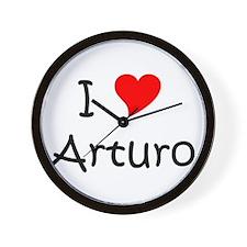 Cute I heart arturo Wall Clock