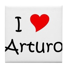 Cute I heart arturo Tile Coaster