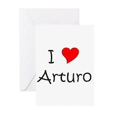 Cute I heart arturo Greeting Card