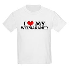 I Love My Weimaraner Kids T-Shirt