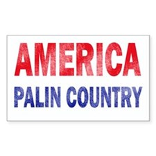 AMERICA - PALIN COUNTRY Rectangle Decal