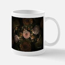 Fractal Floral Brown Green Pe Mug
