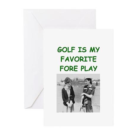 golf joke Greeting Cards (Pk of 10)