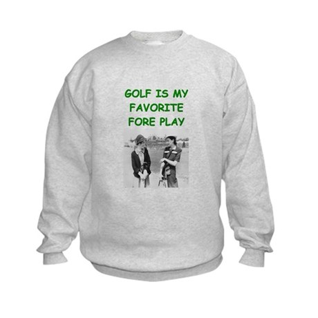 golf joke Kids Sweatshirt