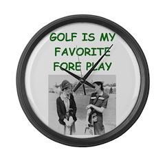 golf joke Large Wall Clock