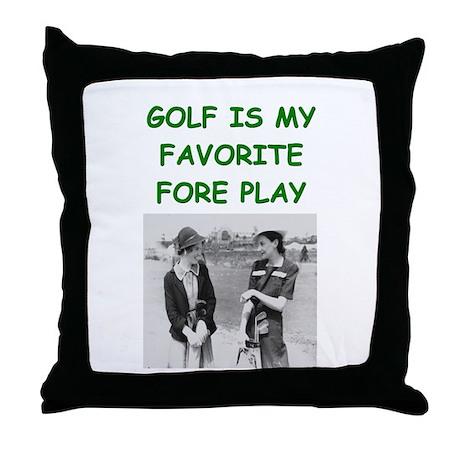 golf joke Throw Pillow