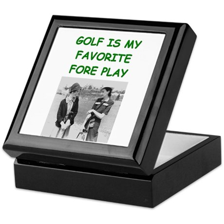 golf joke Keepsake Box