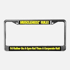 Gym Rat - License Plate Frame
