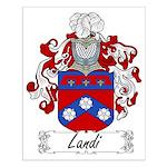 Landi Family Crest Small Poster