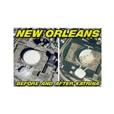 """Before & After Katrina"" MAGNET"