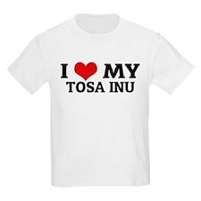 I Love My Tosa Inu Kids T-Shirt