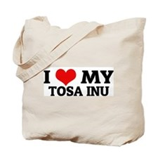 I Love My Tosa Inu Tote Bag