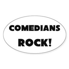 Comedians ROCK Oval Decal