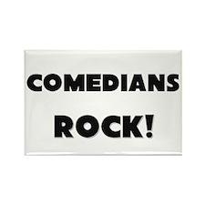 Comedians ROCK Rectangle Magnet
