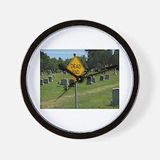 Dead End - Wall Clock