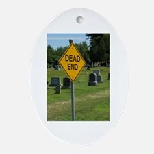 Dead End - Oval Ornament