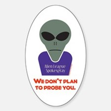 No Probes Oval Decal
