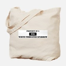 Property of a White-Throated Tote Bag