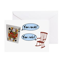 YOU ROCK! YOU RULE! Greeting Card