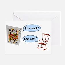 YOU ROCK! YOU RULE! Greeting Card