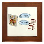 YOU ROCK! YOU RULE! Framed Tile