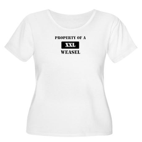 Property of a Weasel Women's Plus Size Scoop Neck
