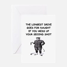 golf humor gifts and t-shirts Greeting Card