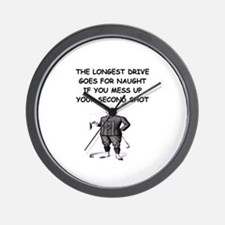 golf humor gifts and t-shirts Wall Clock